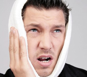 Man with Sensitive Tooth Ache