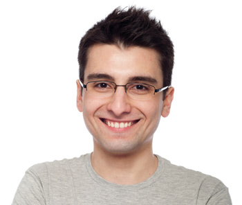 Smiling Man with Wite Healthy Teeth